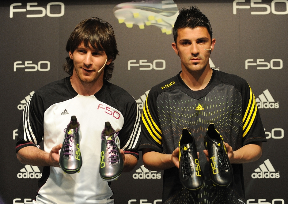 df231a41a Messi and Villa  F50 adiZero Speed on Speed