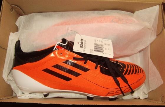 Orange adidas F50 adiZero