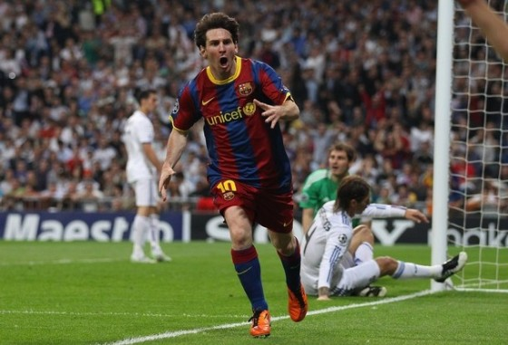 Messi wears Leather F50 adiZero