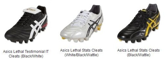Asics Lethal soccer cleats