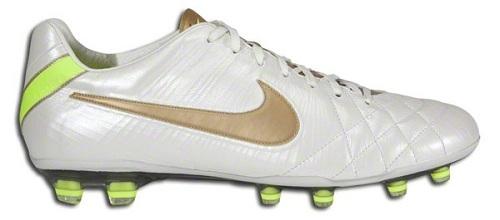 White Gold Nike Tiempo IV