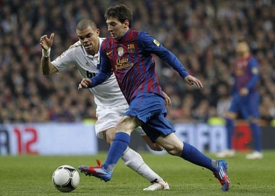 Lionel Messi in Prime Blue adiZero
