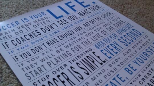 Manifesto Soccer Print