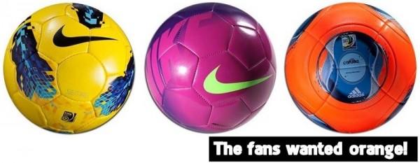 Soccer Balls in Snow