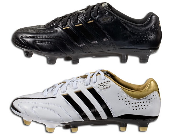 Adidas adiPure 11Pro Black White and Gold