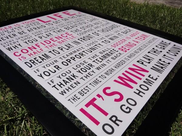 Soccer Manifesto in Pink