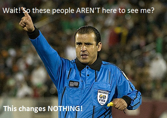 Referee Baldomero Toledo