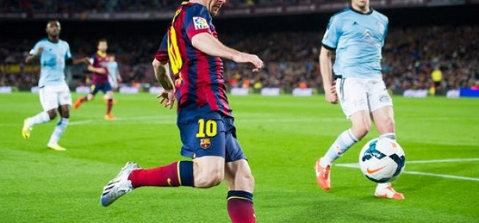 "Lionel Messi Wears adiZero F50 ""Messi 370″"