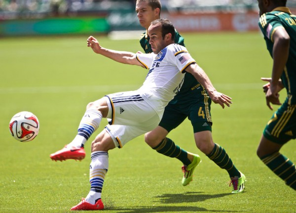 The Portland Timbers play Los Angeles Galaxy at Providence Park in Portland, Ore.