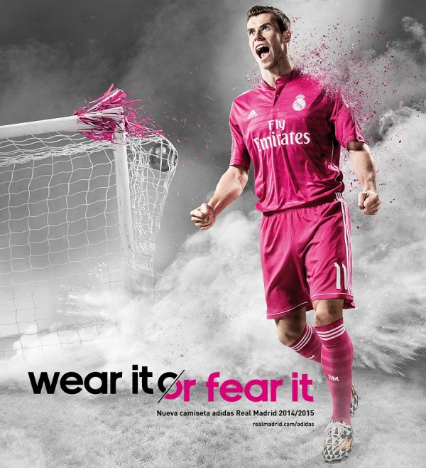 Gareth Bale in Pink Real Madrid Jersey