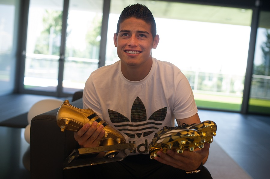 adidas award James Rodriguez the Golden Boot