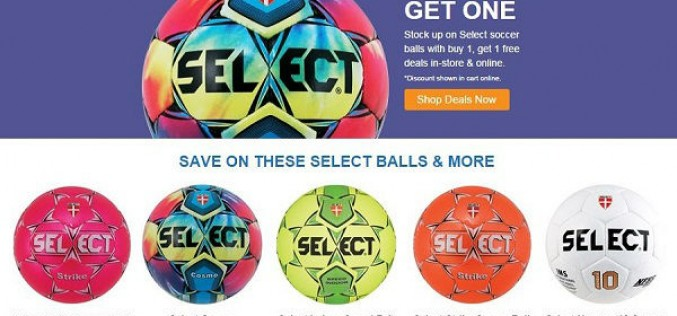SELECT Soccer Ball Deal – Buy One, Get One Free!