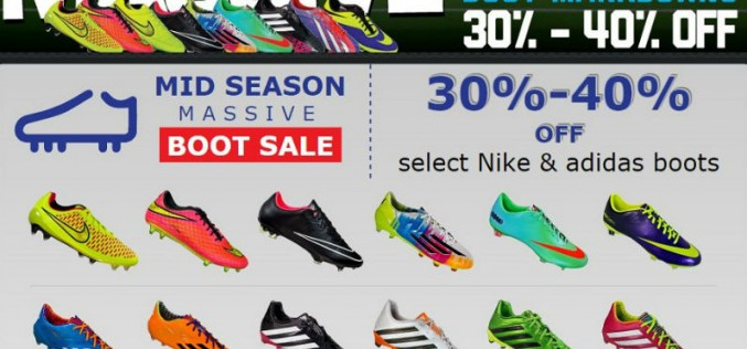 Massive WeGotSoccer Mid-Season Boot Sale
