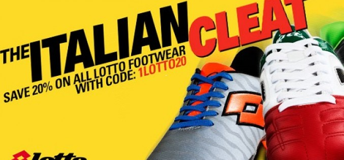 """The Italian Cleat"" – Take 20% Off All Lotto Boots!"