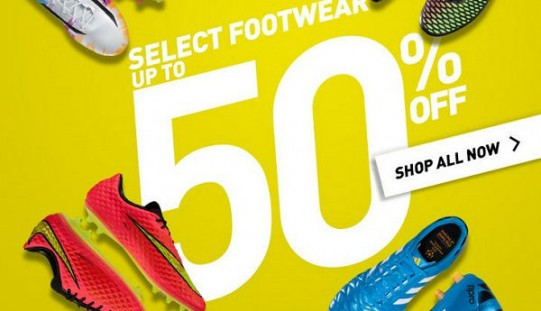 WorldSoccerShop – Fall Clearance Event with Upto 50% Off Boots!
