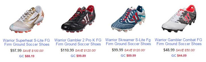 Warrior Sale Line-Up