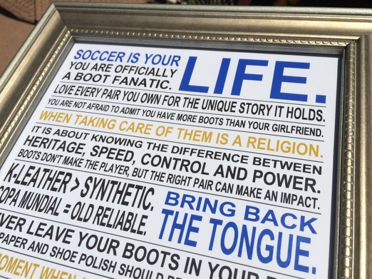 Soccer Boot Fanatic Poster Up Close