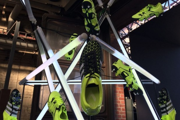 adidas boots at the base