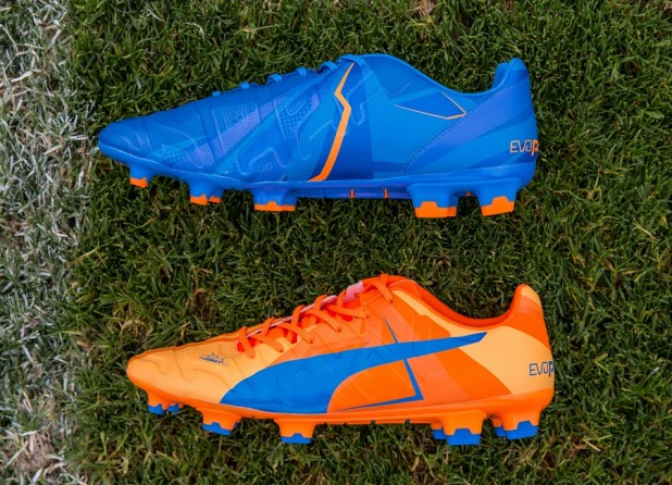PUMA Launched the new H2H Duality evoPOWER Football Boots in Orange and Blue