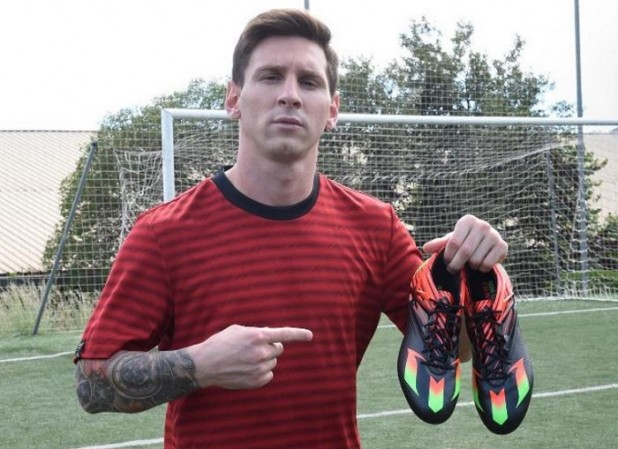 Messi with Messi15 Boots