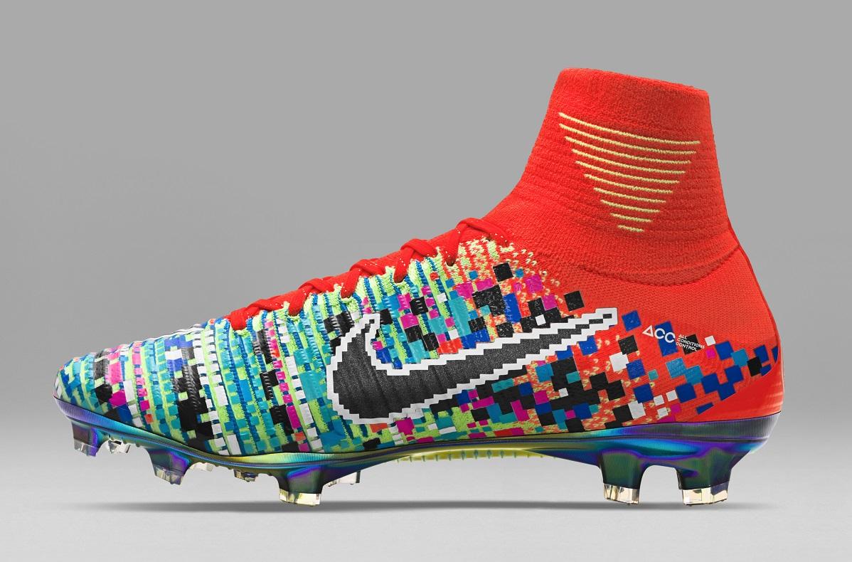 4969eec87 ... mercurial-x-ea-sports-pixelated; nike mens football boots orange blue FG  ...