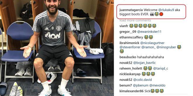 Juan Mata in Lukaku's Boots