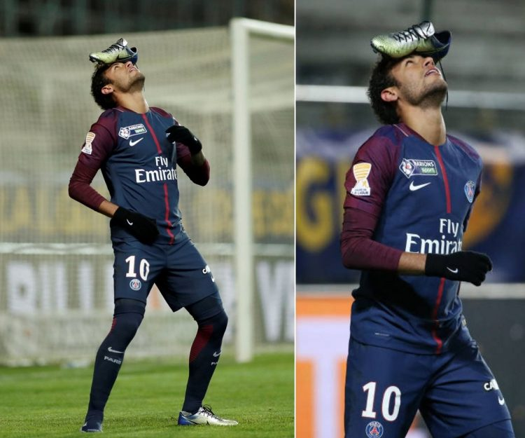 Neymar's Boot Celebration