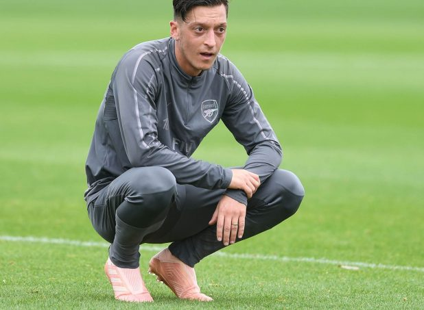 Ozil In Pink Boots