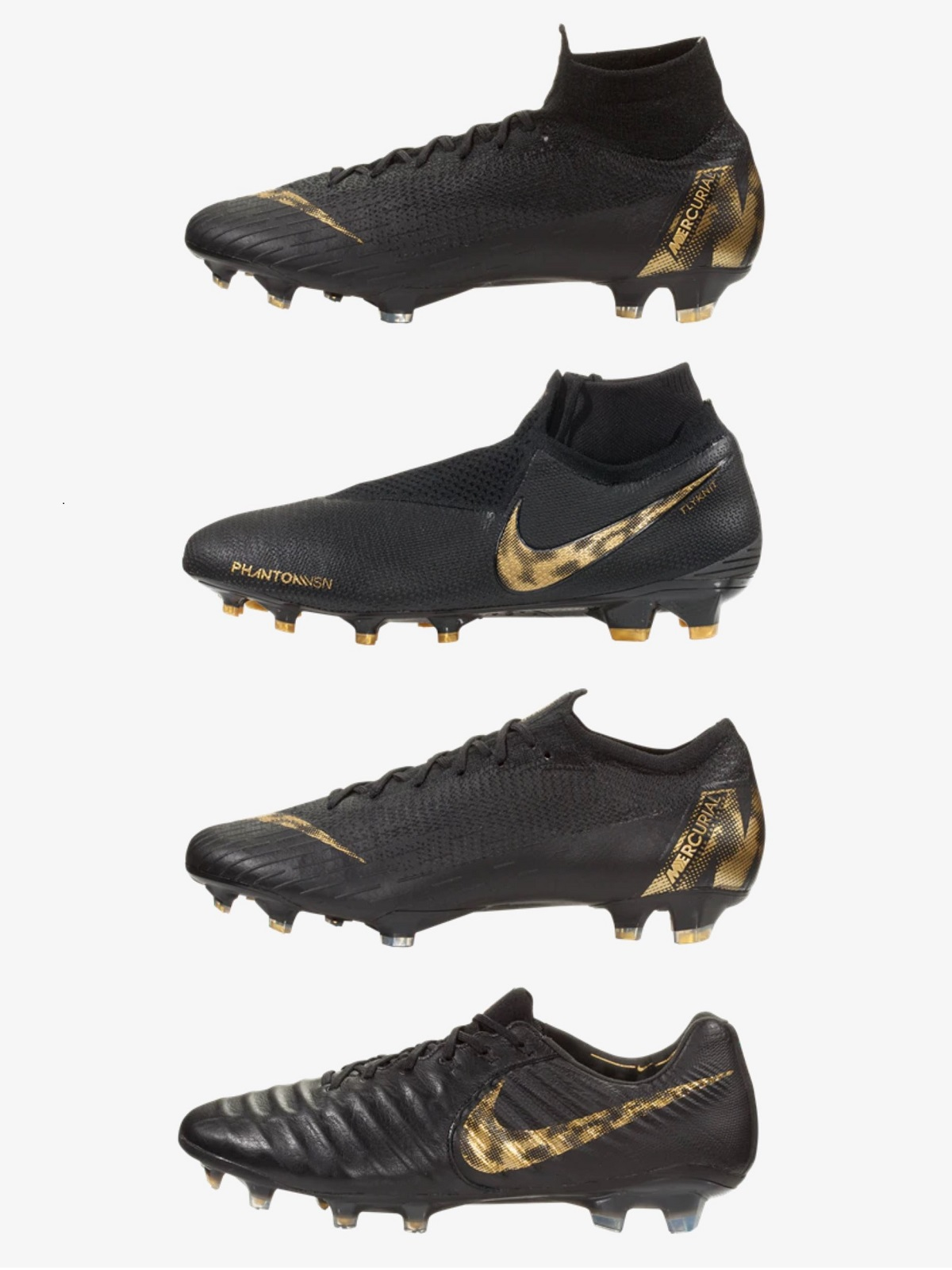 c202f4a5672 Complete Nike Black Lux Pack | Soccer Cleats 101